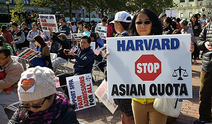 Protest Against Harvard Acceptance