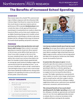 The Benefits of Increased School Spending